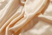 Smooth beige satin — Stockfoto