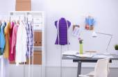 Work place with sew manikins — Stock Photo
