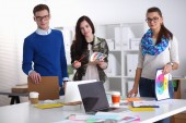 Young business people working at office on new project — Stock Photo