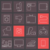 Electronics icons — Stock Vector