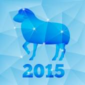 New Year of the Goat or Sheep 2015, polygonal geometric pattern. — Stock Vector