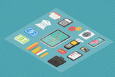 Finance isometric 3d icons. — Vector de stock