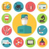 Medical vector icons set. Healthcare infographic elements. — Stock Vector