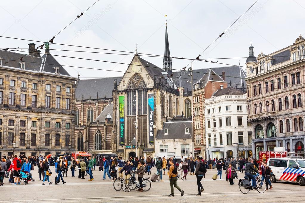 piazza dam centro storico della citt di amsterdam