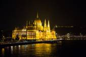 Hungarian parliament at night — Stock Photo
