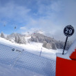 Ski slopes in the mountains of Les Houches winter resort, French Alps — Stockfoto #65278463