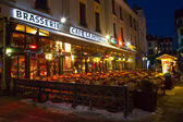 Cafe, Restaurant in the center of the town, Chamonix, France — Stock Photo