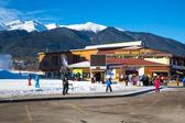 Bansko ski station, cable car lift, Bulgaria — Stock Photo