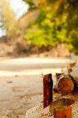 Sandy beach frame — Zdjęcie stockowe