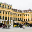 Horse carriages fiaker in front of the Schonbrunn palace, Vienna — Stock Photo #70929491