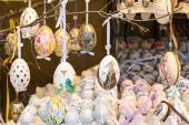 Colorful painted Easter eggs on the tree — Stock Photo