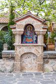 Part of Agios Stefanos St Stefan Monastery on Meteora cliff, Greece — Stock Photo