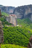 Meteora monastery on the high cliff, Greece — Stock Photo