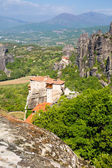 Meteora monasteries on the high cliffs, Greece — Stock Photo