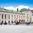 Hofburg palace, square view and fiacre or fiaker in Vienna — Stock Photo #73102359