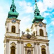 Part of Saint Anne Church or Szent Anna templom in Budapest, Hungary — Stock Photo #73644713