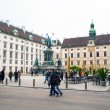 Постер, плакат: People at Hofburg Innenhof Monument of Emperor Franz I Vienna