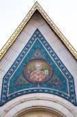 Aziz Nikolai fresk öndeki Rus Kilisesi Sofya, Bulgaristan — Stok fotoğraf