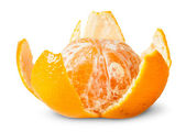 Partially Purified Juicy Tangerine — Stock Photo