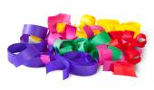 Multicolored Confetti Serpentine From Paper — Stock Photo