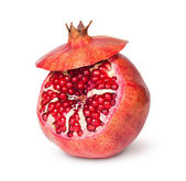 Delicious Exotic Pomegranate Fruit With Lid — Stock Photo