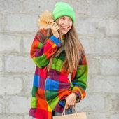 Hermosa mujer comercial otoño — Foto de Stock