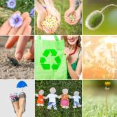 Eco friendly collage. Think green concept — Stock Photo