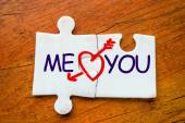 Puzzle you and me — Stock Photo