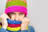 Scarf woman — Stok fotoğraf