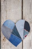 Denim heart background — Stock Photo