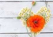 Flower heart — Стоковое фото