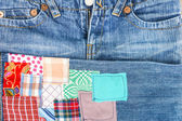 Jeans patches — Stock Photo