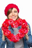 Valentines day woman — Stock Photo