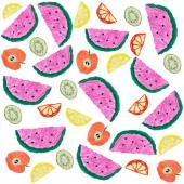 Geschnittene früchte hintergrund — Stockfoto