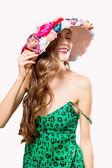 Elegant sexy summer woman — Foto de Stock