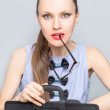 Funny business woman concept — Stock Photo #65149687