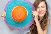 Elegant woman in hat — Stock Photo