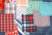 Patchwork fabric background — Stock Photo