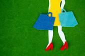 Happy shopping Frau — Stockfoto