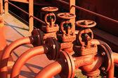 Three shut-off valve — Stock Photo