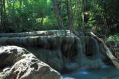 Waterfall in forest river — Stock Photo