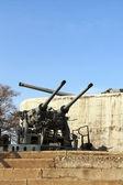 Artillery guns of the fortress of Vladivostok — Stock Photo