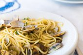 Spaghetti with vongole  — Stock Photo