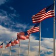 Row American Flags, Washington DC,USA — Stock Photo #60086607