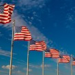 Row American Flags, Washington DC,USA — Stockfoto #60086687