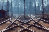 Rails with a selective focus — Stock fotografie