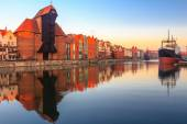 View of Gdansk old town from Motlawa River — Stock Photo