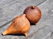 Clay figurines handmade — Stock Photo