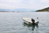 Lonely boat — Stock Photo