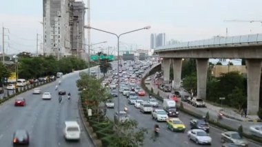 Highway driving rush hour busy traffic time lapse — Video Stock